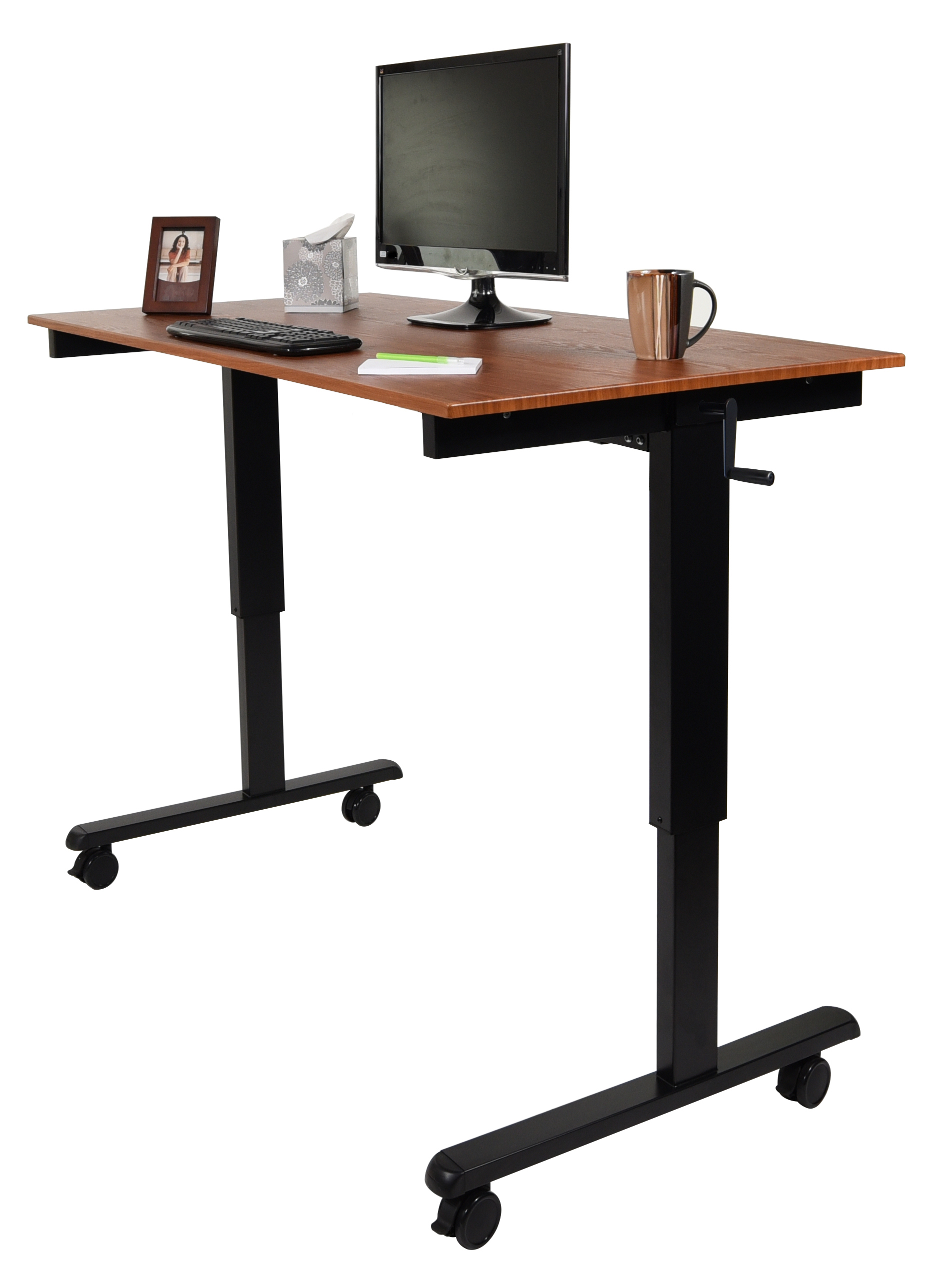 Luxor 60 Hand Crank Adjustable Stand Up Desk Notsitting Com