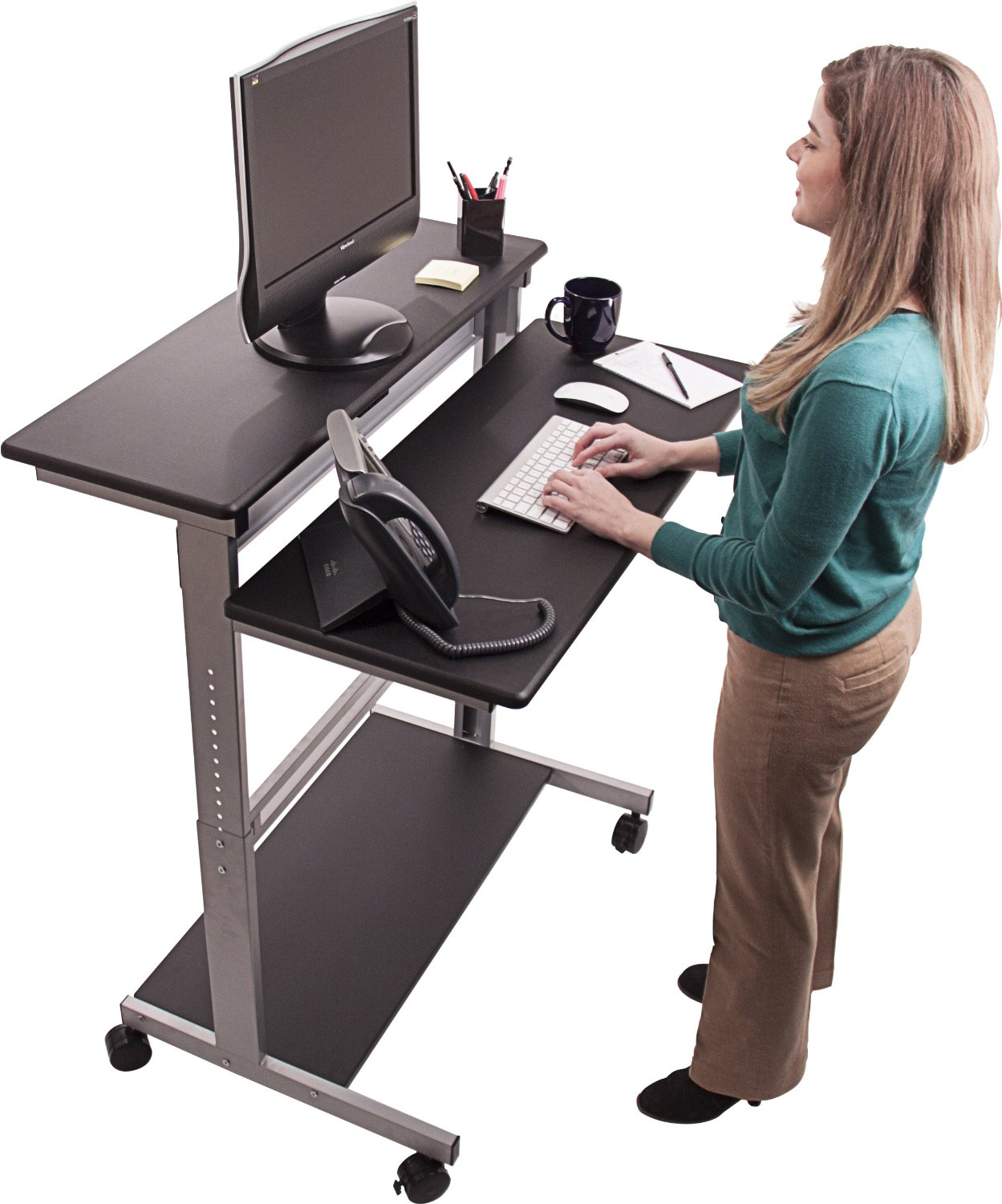 Ergonomic Stand-Up Computer Workstation