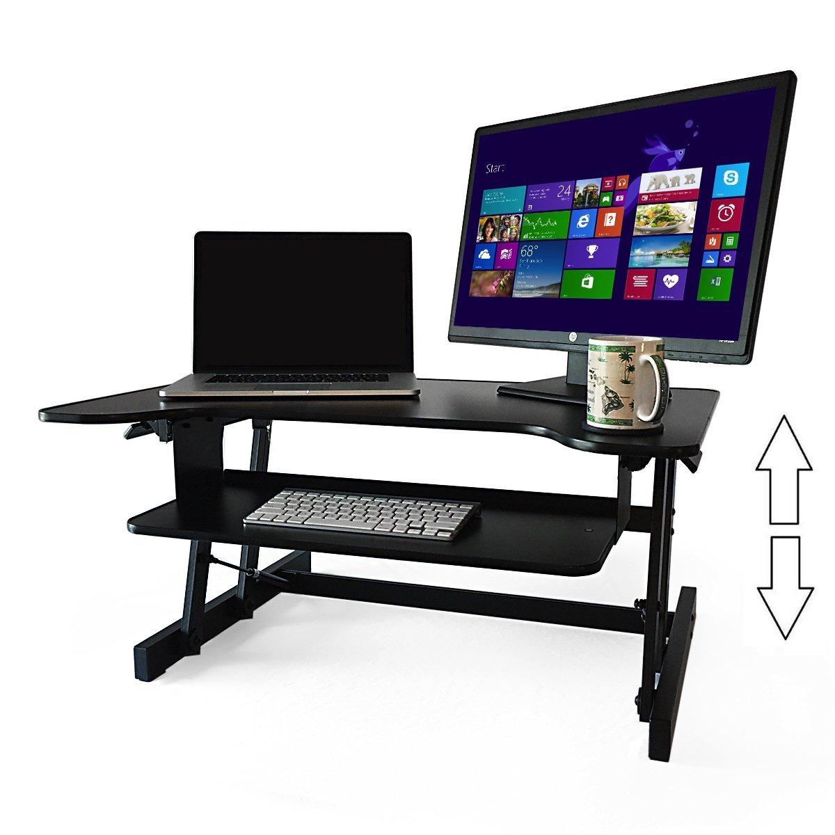 Deskriser Dual Monitor Sit Stand Desk