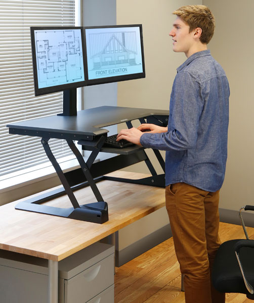 standing desk converter an easy way to try a standing desk rh notsitting com convert desk into standing desk convert desk into standing desk