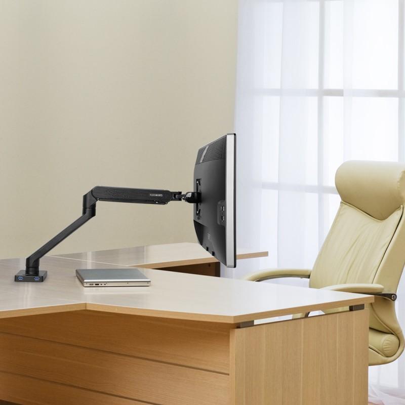 Fleximounts F9 Full Motion Desk Mount Office Setup