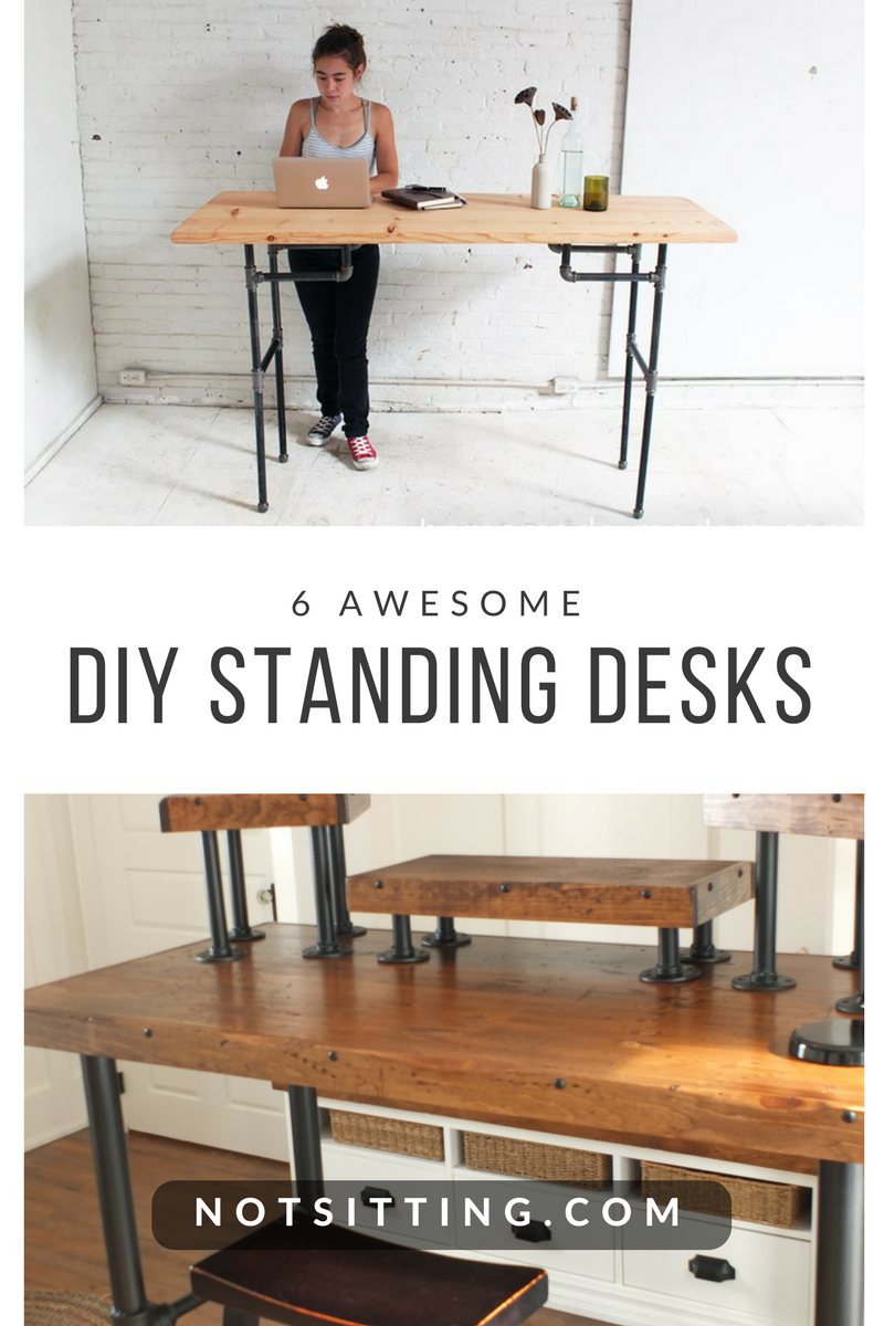 6 DIY Standing Desks You Can Build Too - NotSitting.com