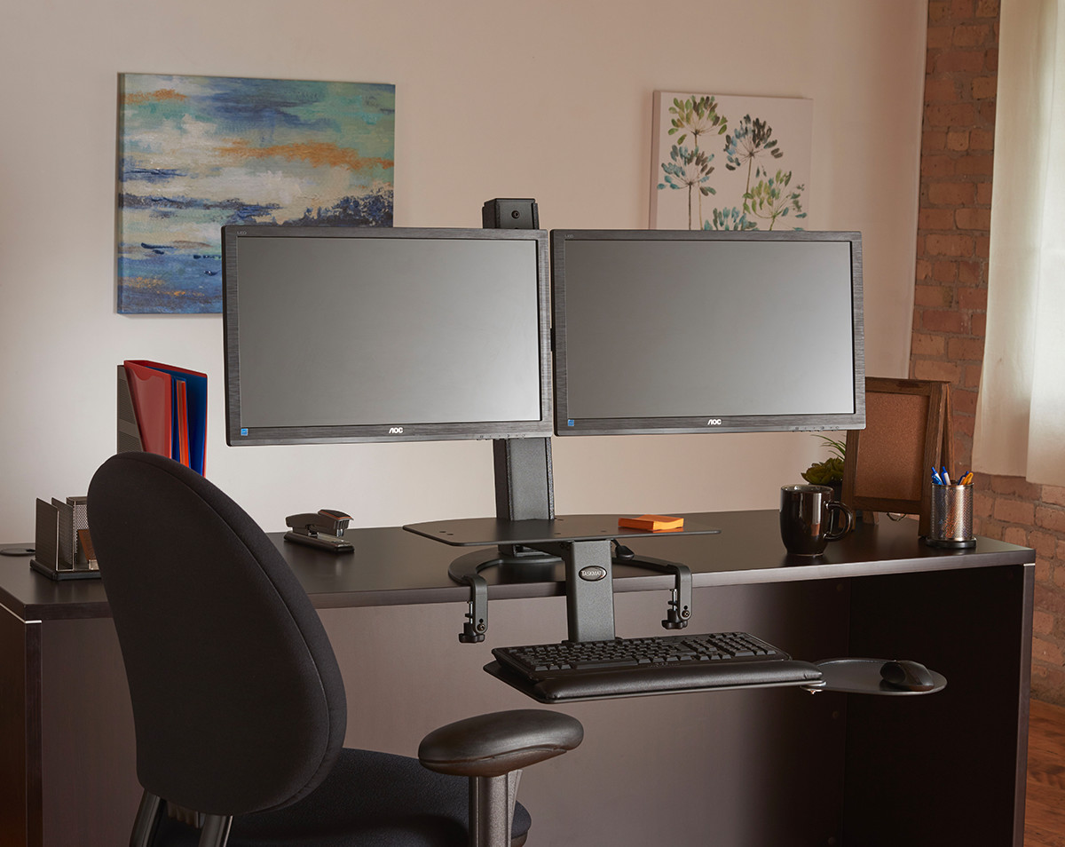 Taskmate Go Dual Monitor Standing Desk Notsitting Com