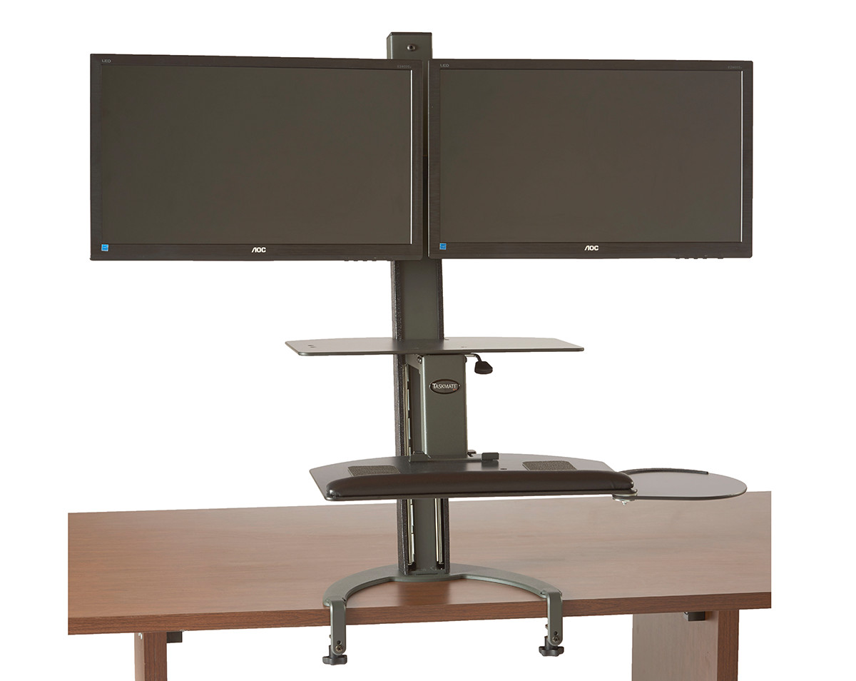 Dual Lcd Monitor Stand Desk Cl 28 Images Dual Monitor